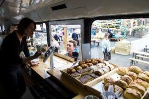 Double Decker Bus Tray Bakes