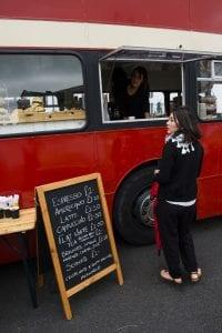 Double Decker Bus buy Coffee